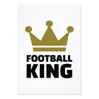 Football King champion Personalized Invitations