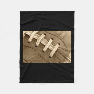 Football Laces Fuzzy Blanket