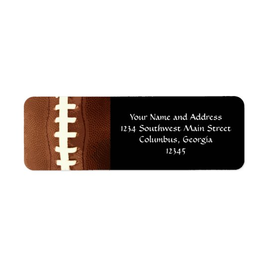 Football Laces Graphic Return Address Label