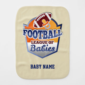 Football | League of Babies Burp Cloth