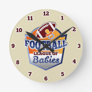 Football | League of Babies Round Clock