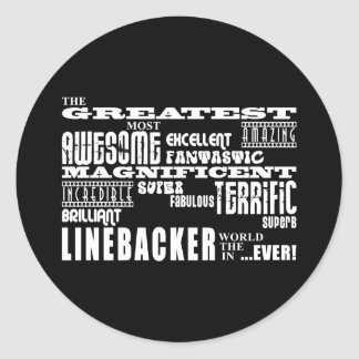 Football Linebackers : Greatest Linebacker Round Sticker