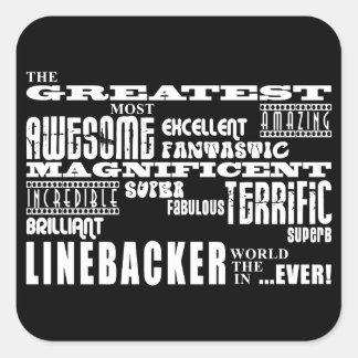 Football Linebackers : Greatest Linebacker Square Sticker