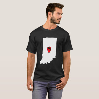 FOOTBALL LOCATION IN INDIANA, FOOTBALL, INDIANA T-Shirt