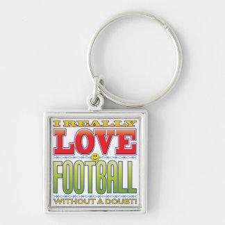 Football Love Face Key Chains