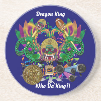 Football Mardi Gras Memorabilia View Notes Please Coasters