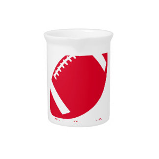 FOOTBALL MERRY CHRISTMAS . PITCHER