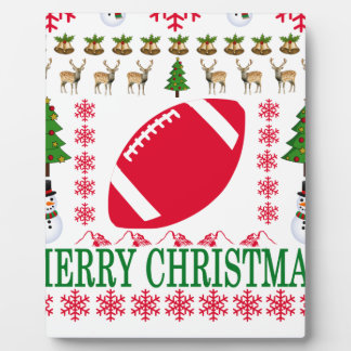 FOOTBALL MERRY CHRISTMAS . PLAQUE