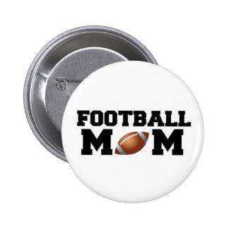 Football Mom 6 Cm Round Badge