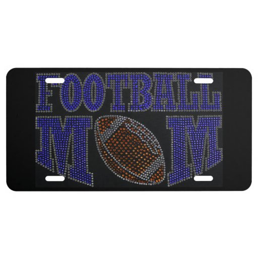 Football Mom Car License Plate License Plate