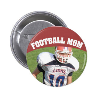 Football Mom Custom Photo Button