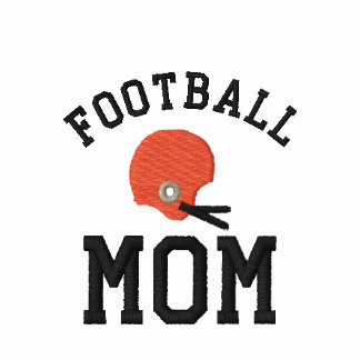 Football Mom Embroidered Shirt