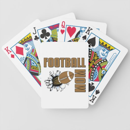 Football Mom Bicycle Card Deck