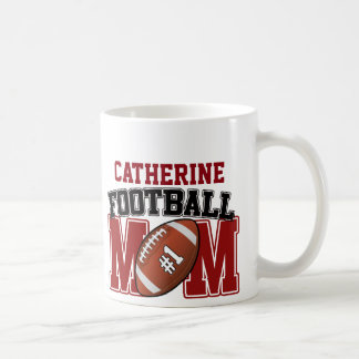 Football Mom (red/black) Coffee Mug