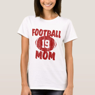 Football Mom Red T-Shirt