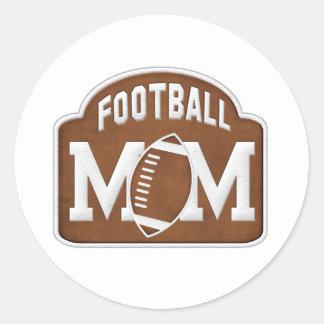 Football Mom Round Sticker