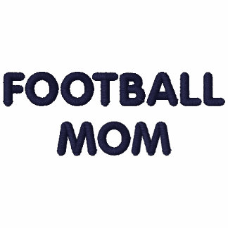 FOOTBALL MOM shirt embroidered