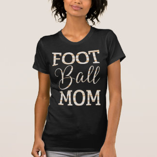 Football Mom Shirts With Gold Foil Stripes
