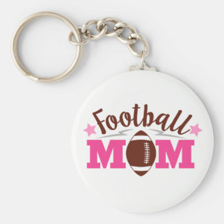 Football Mom sports word art key chain
