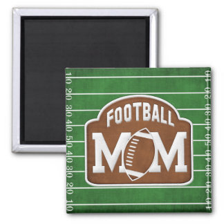 Football Mom Square Magnet