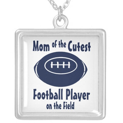 Football Mom with Cutest Player on Field Jewelry