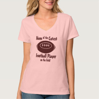 Football Mom with Cutest Player on Field Tshirts