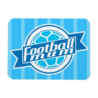 Football Mum (blue) Rectangular Photo Magnet