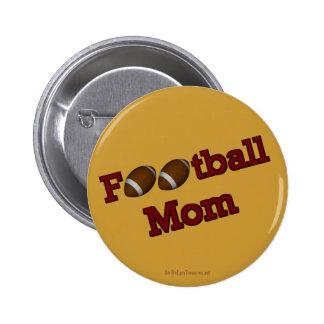 Football Mum Button Pin