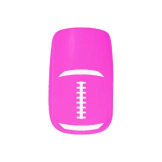 Football Mum or Girlfriend Cute Custom Colour Minx Nail Art