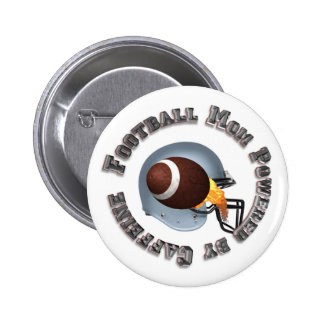 Football Mum Powered by Caffine Pinback Button