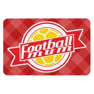 Football Mum Rectangular Photo Magnet