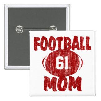 Football Mum Red Buttons
