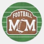 Football Mum Round Sticker