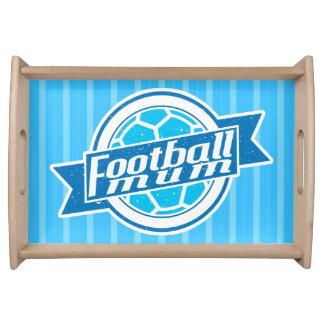 Football Mum Soccer Mom Tray Serving Platters