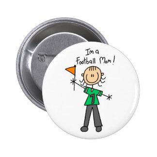 Football Mum Tshirts and Gifts Pinback Button