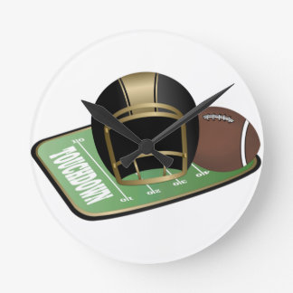 Football Nut Round Wallclock