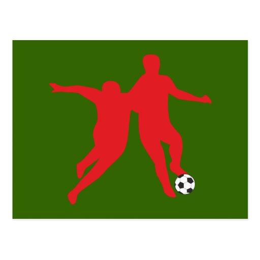 Football of soccer Dribbling Post Card