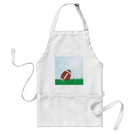 football on grass apron