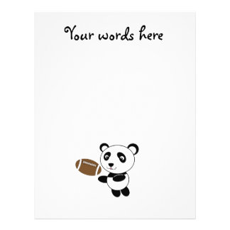 Football panda custom flyer