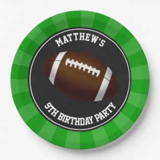 Football Party Cake Dinner Plates Personalized