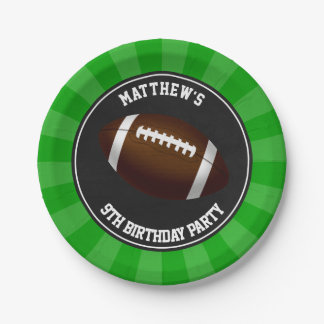 Football Party Cake Plates Personalized