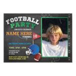 Football Party Invite Photo Birthday Invitatation