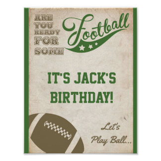 Football Party Sign with Vintage Background