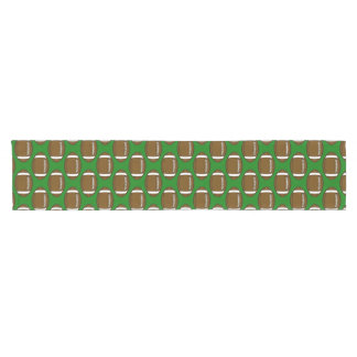Football Pattern Design on Green Field Short Table Runner