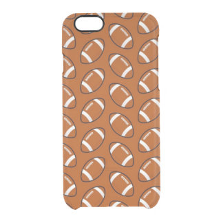 Football Pattern iPhone 6/6s Clearly™ Case