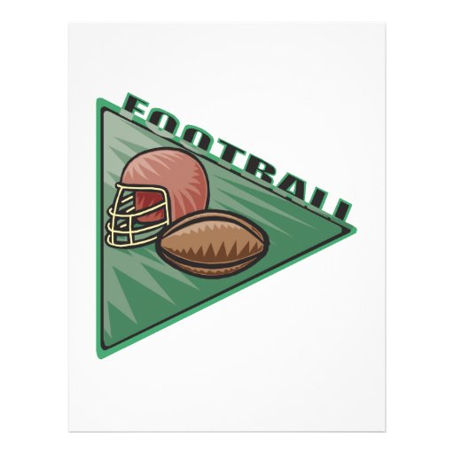 Football Pennant Flyer Design