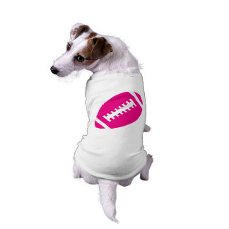 FOOTBALL Pets | Hot Pink Football Sports Graphic Sleeveless Dog Shirt
