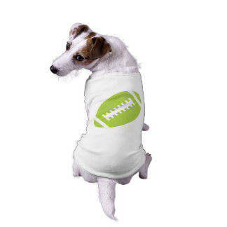 FOOTBALL Pets | Lime Green Football Sports Graphic Sleeveless Dog Shirt