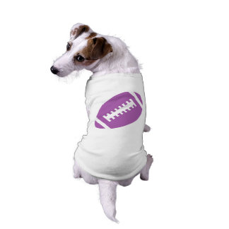FOOTBALL Pets | Purple Football Sports Graphic Sleeveless Dog Shirt