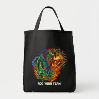 "Football Phoenix Bird ""Rise Again!"" Think you can? Grocery Tote Bag"